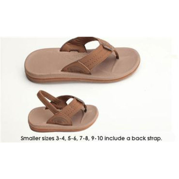 Rainbow Kinder Capes Pink Molded Rubber Sandals
