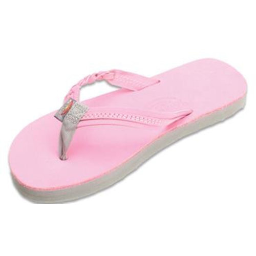 Rainbow Sandals Rainbow Children's Flirty Braidy Pink Sandals