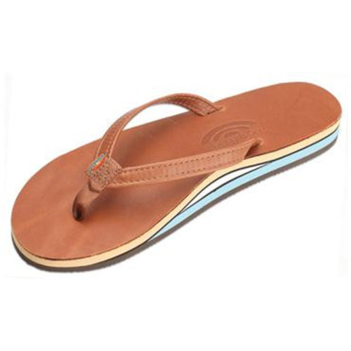 Rainbow Sandals Rainbow Dames Classic Leather Tan Sandals