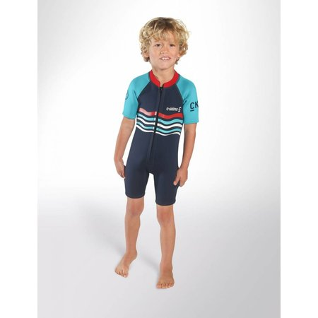 C-Skins C-Skins 3/2 Baby Waves Shorty Wetsuit InkBlue/Turquoise/Red
