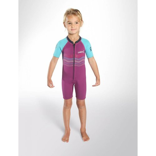 C-Skins C-Skins 3/2 Baby Waves Shorty Wetsuit Violet/Cyan/Navy