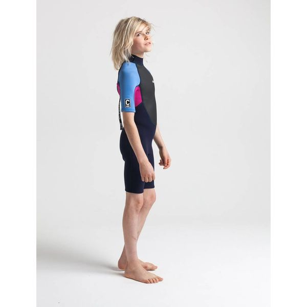 C-Skins Element 3/2 Kinder Wetsuit Shorty Magenta
