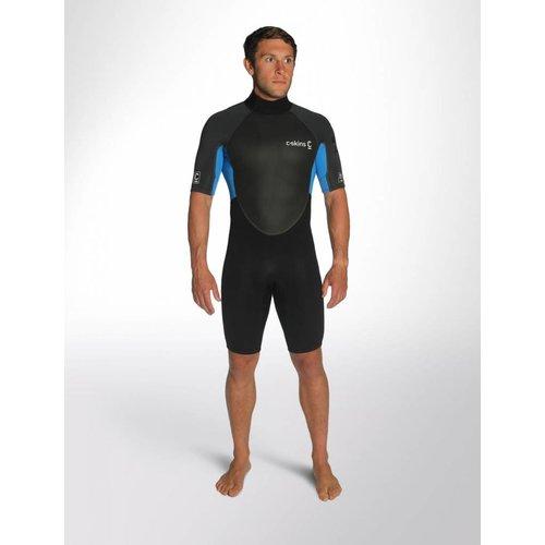C-Skins C-skins Element 3/2 Heren Black/Blue Shorty Wetsuit