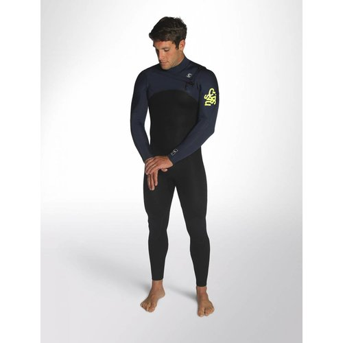 C-Skins C-skins Legend 4/3 Heren Zomer Wetsuit Black/InkBlue/Lime
