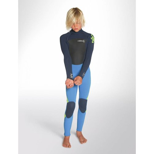 C-Skins C-Skins Legend 5/4/3 Kinder Winter Wetsuit Cyan/Blue/Lime