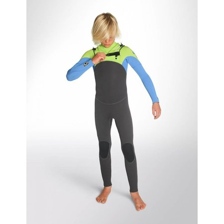 C-Skins C-Skins Legend 5/4/3 Kinder Winter Wetsuit Gunmetal/Lime/Cyan