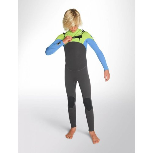 C-Skins C-Skins Legend 5/4/3 Kinder Winter Wetsuit Gunmetal/Lime/Cyan