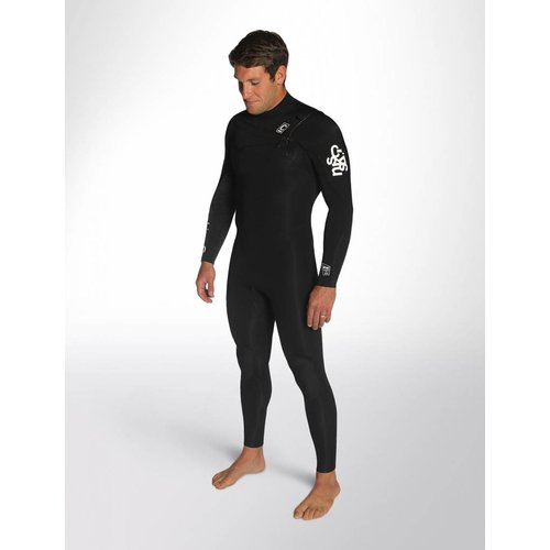 C-Skins C-skins ReWired 3/2 Heren Zomer Wetsuit Black