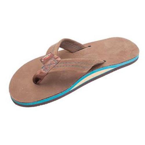 Rainbow Sandals Rainbow Heren Premier Blues Expresso Leather w/Blue Midsole Sandals