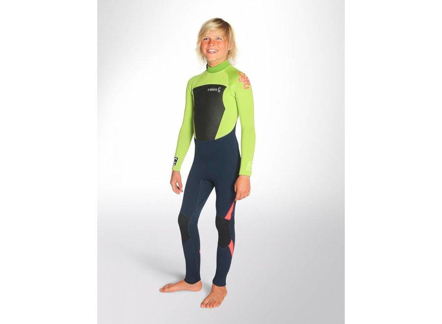 C-Skins Legend 4/3 Children's Wetsuit InkBlue / Lime / FloRed