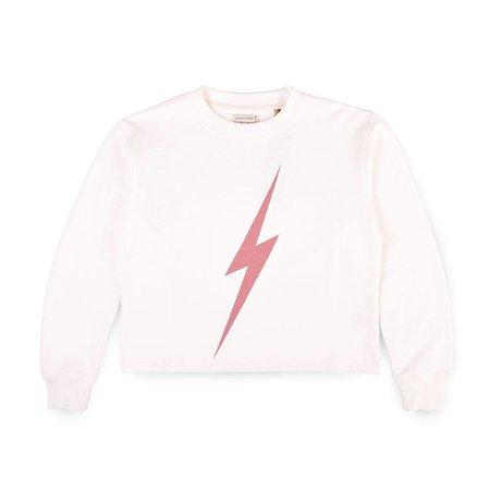 Lightning Bolt Lightning Bolt Dames Forever White Crew