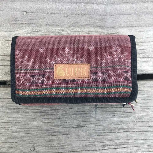 Curms Curms Wallet Portemonnee Rood/Bruin
