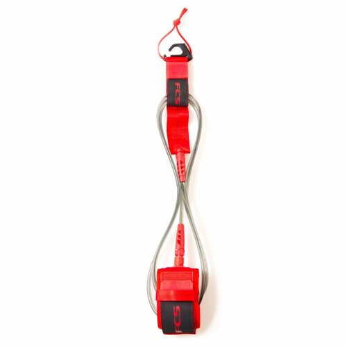 FCS FCS 8ft Regular Essential Leash Red