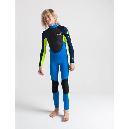 C-Skins C-Skins Element 3/2 Kids Cyan/Geel/Navy Wetsuit