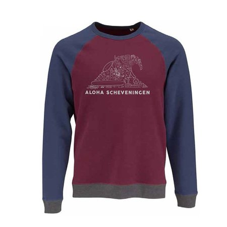 Aloha Surf Huismerk Aloha's Wave Heren Red/Blue Sweater