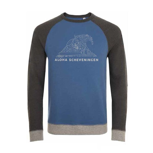 Aloha's Wave Dames Grey/Blue Sweater