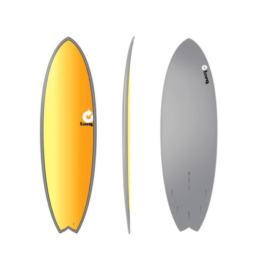 Torq Torq Fish Full Fade Grey Yellow Orange 5'11''