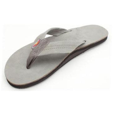 Rainbow Sandals Rainbow Heren Premier Leather Single Layer Grey Sandals