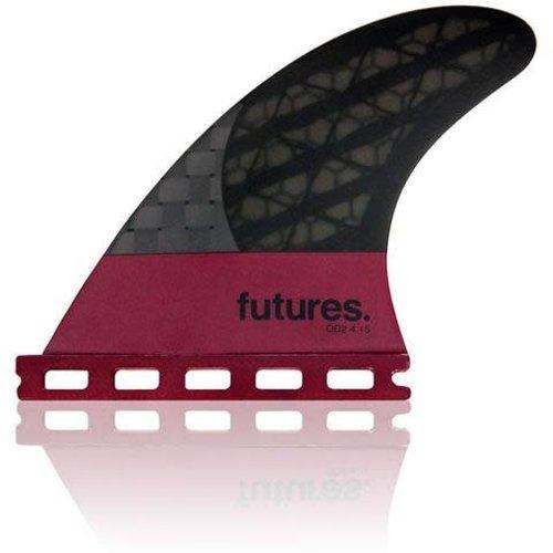 Futures Fins Futures Blackstix V2F8 Violet Thruster Fins