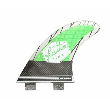 Feather Fins Feather Fins FCS Superlight Carbon Thruster Fins Green