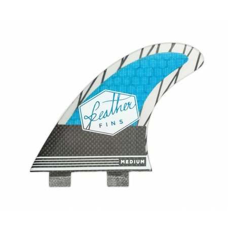 Feather Fins Feather Fins FCS Superlight Carbon Thruster Fins Blue