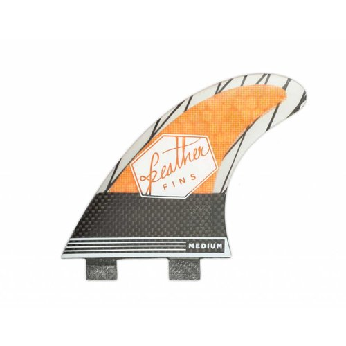 Feather Fins Feather Fins FCS Superlight Carbon Thruster Fins Orange