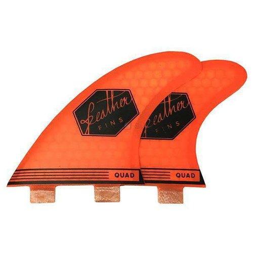 Feather Fins Feather Fins FCS Ultra Light Oranje Quad Rear Fins