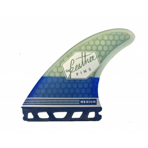 Feather Fins Feather Fins Futures Ultralight HC Thruster Fins Blue/White