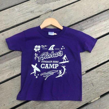 Aloha Surf Huismerk Aloha's Surfcamp Kids Purple Tee