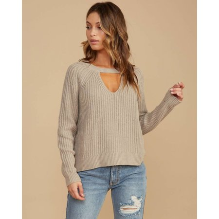 RVCA RVCA Dames Case Sweater Oatmeal