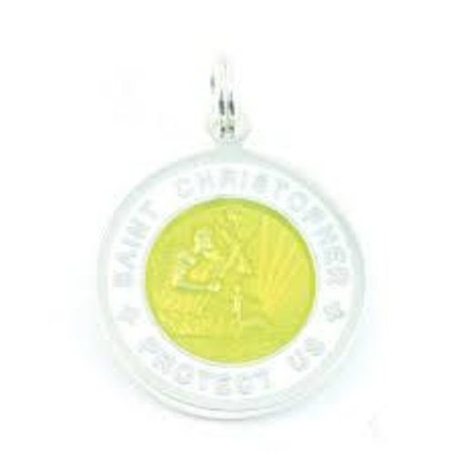 Saint Christopher Saint Christopher Wit/Geel Ketting