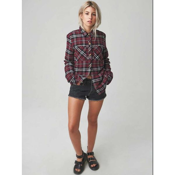 Volcom Dames Plaid About you Long Sleeve Shirt