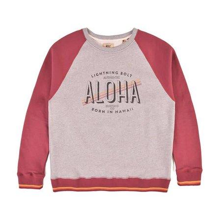 Lightning Bolt Lightning Bolt Heren Aloha Contrast Ruby Wine Crew