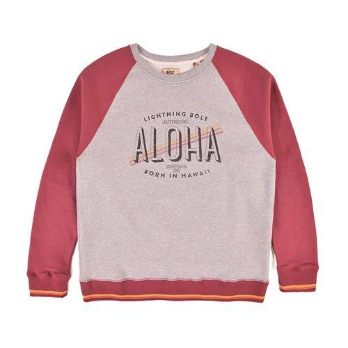 Lightning Bolt Lightning Bolt Men's Aloha Contrast Ruby Wine Crew