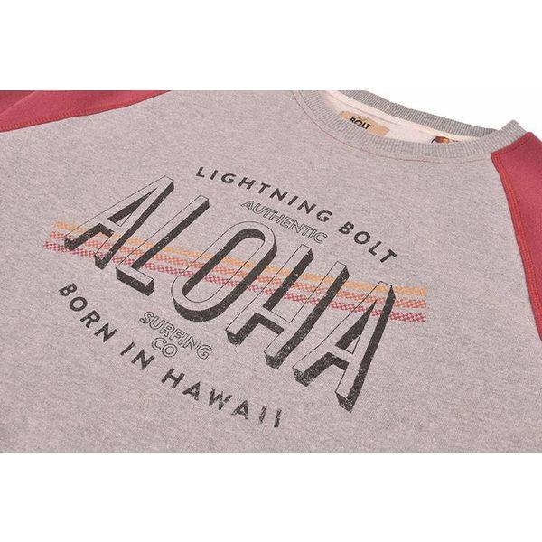 Lightning Bolt Men's Aloha Contrast Ruby Wine Crew