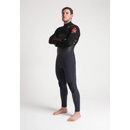 C-Skins C-Skins Wired 5/4 Heren Anthracite/Bl/Red Winter Wetsuit