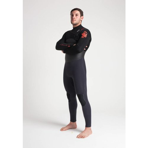 C-Skins C-Skins Wired 5/4 Heren Winter Wetsuit  Anthracite/Bl/Red
