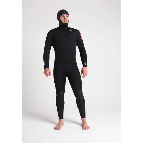 C-Skins C-Skins ReWired 5/4 Heren Hooded Winter Bl/White Wetsuit