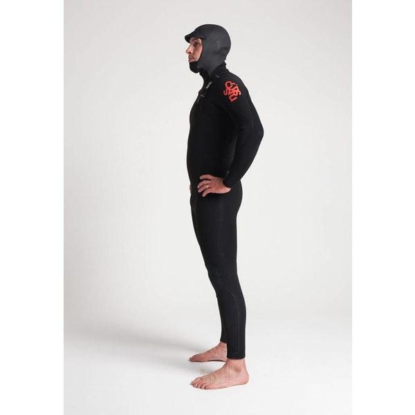 C-Skins ReWired 5/4 Heren Winter Wetsuit Hooded Bl/White