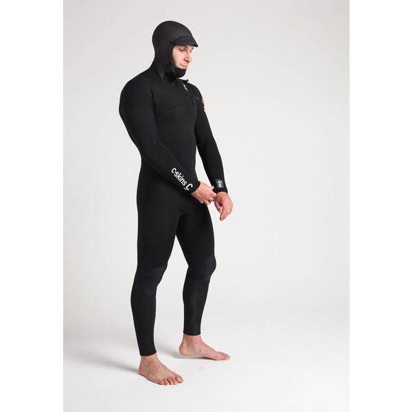 C-Skins ReWired 5/4 Heren Hooded Winter Bl/White Wetsuit