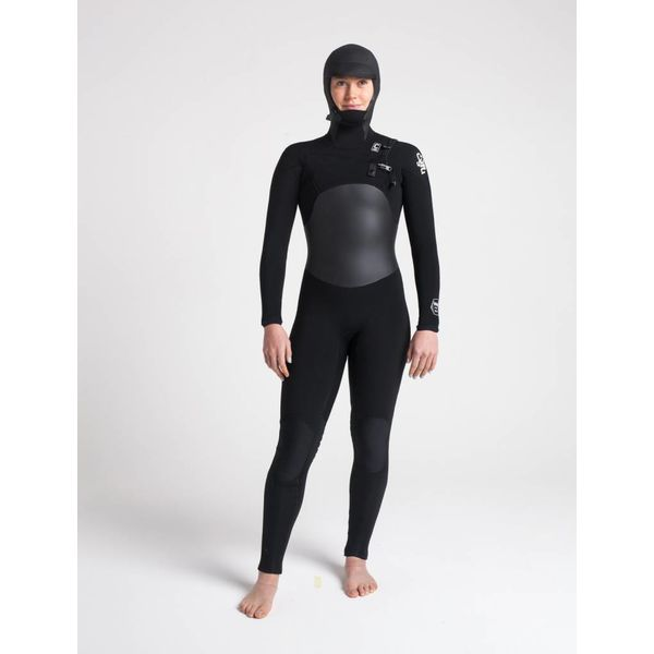 C-Skins Wired 6/5/4 Dames Hooded Black/White Winter Wetsuit