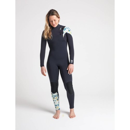 C-Skins C-Skins ReWired 5/4 Dames Winter Wetsuit Anthracite/Geo