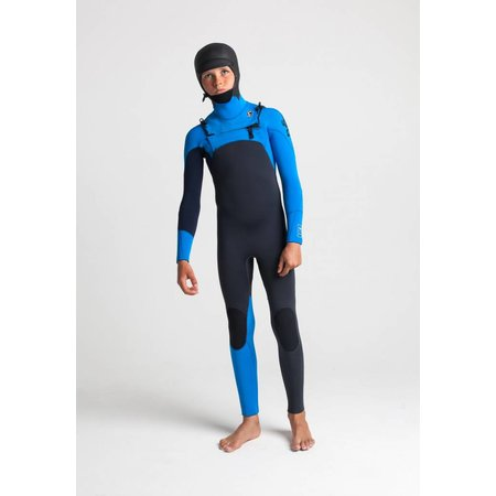 C-Skins C-Skins Session 5/4 Hooded Kinder Anthracite/Cyan/Slate Winter Wetsuit