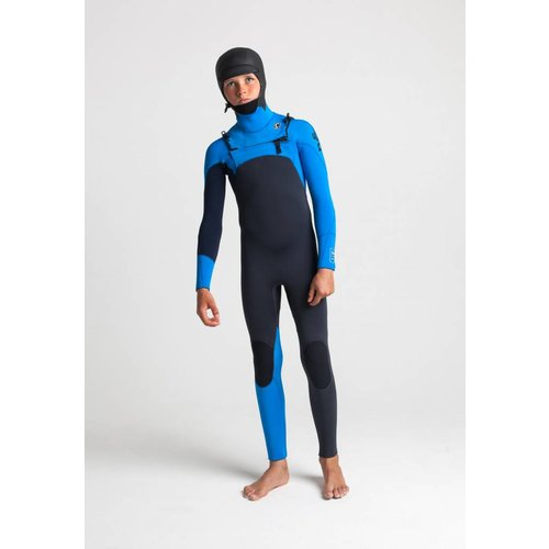 C-Skins C-Skins Session 5/4 Youth Wetsuit Hooded Anthracite/Cyan/Slate