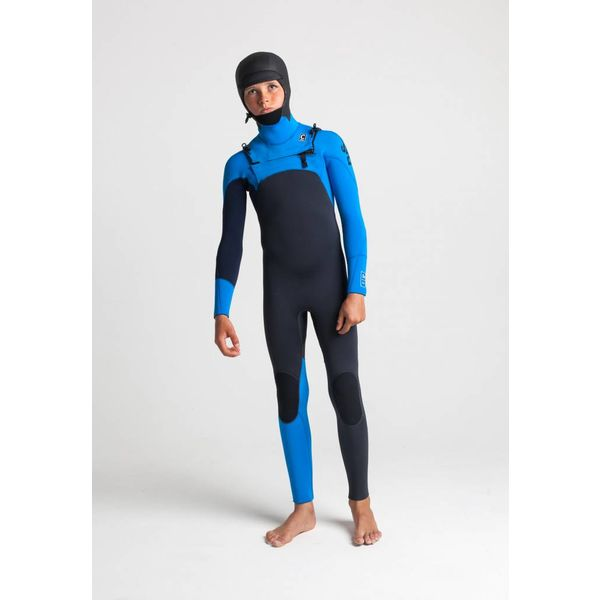 C-Skins Session 5/4 Hooded Kids Anthracite/Cyan/Slate Winter Wetsuit