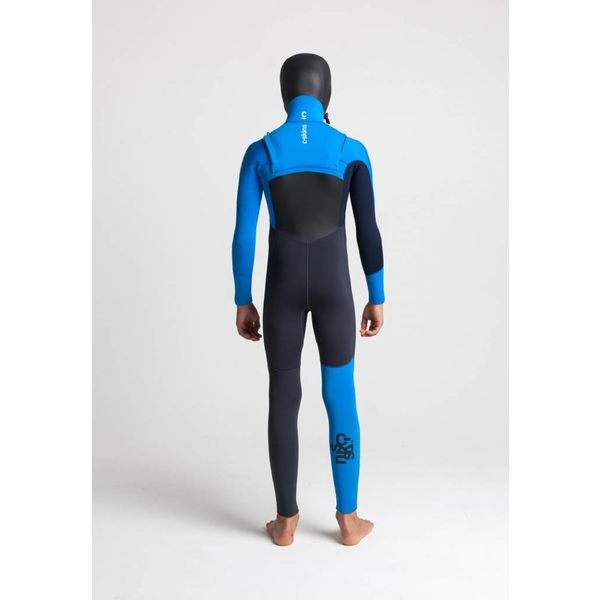 C-Skins Session 5/4 Hooded Kinder Anthracite/Cyan/Slate Winter Wetsuit