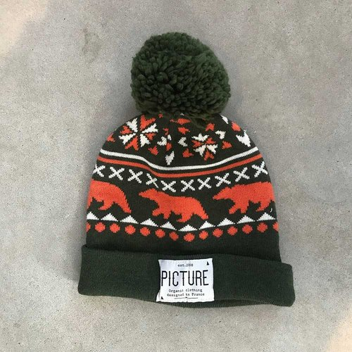 Picture Organic Clothing Picture Green Bear Beanie