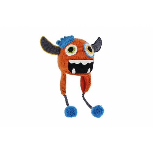 Herman Headwear Herman Kids Justin Monster Oranje Muts