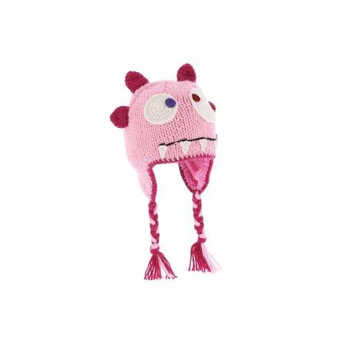 Herman Headwear Herman Kids Justin Monster Pink Beanie