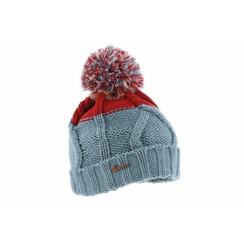 Herman Headwear Herman Justin Blauw/Rode Muts